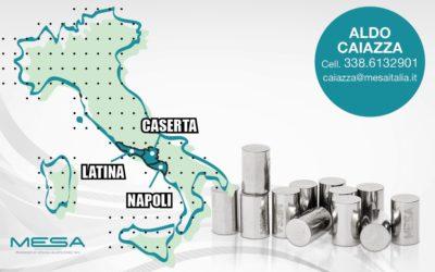 Mesa a Napoli, Caserta e Latina