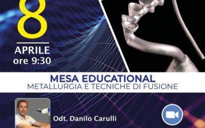 """Nuovo Webinar 08.04.21: """"Metallurgia e tecniche di fusione"""""""